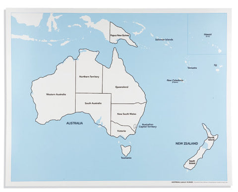 Australia Control Map: Labeled 590842692