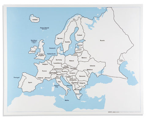 Europe Control Map: Labeled 590843140