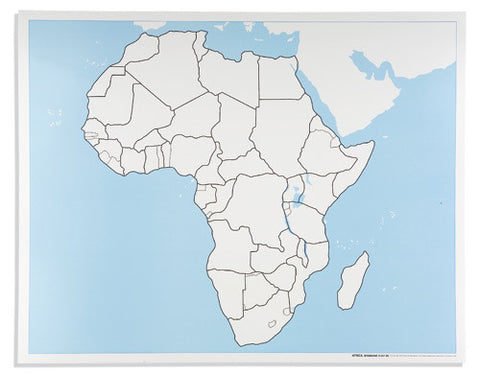 Africa Control Map: Unlabeled 590845444