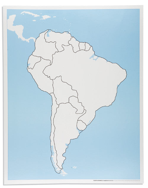 South America Control Map: Unlabeled 590844932