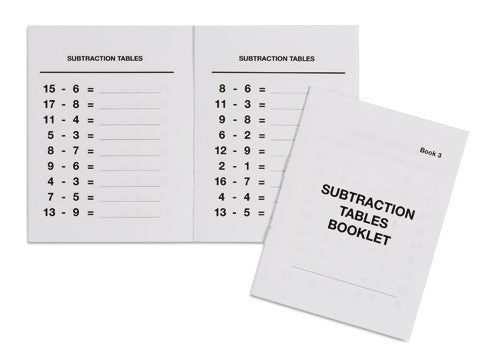 Subtraction Tables Booklet: 3 572057284