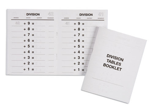Division Tables Booklets 572058500