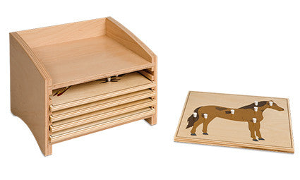 Animal Puzzle Cabinet: Five Compartments 5361659077