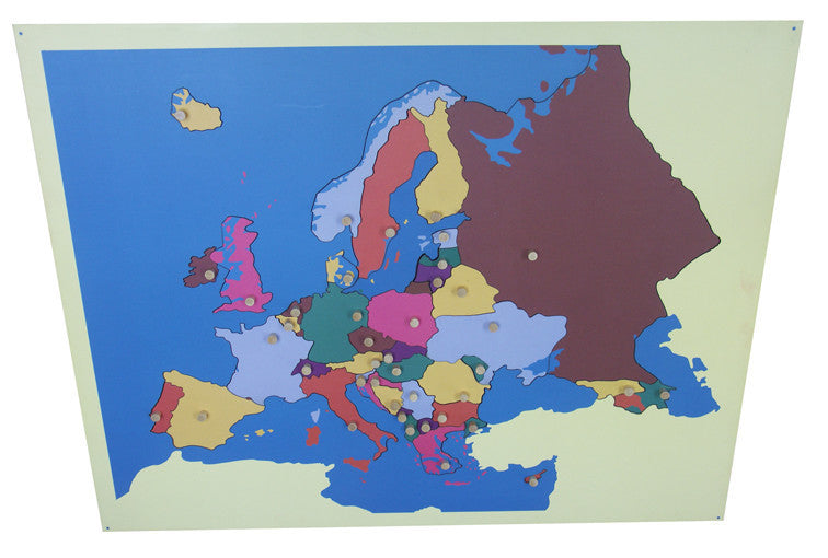 Puzzle map of Europe standard size 135762213