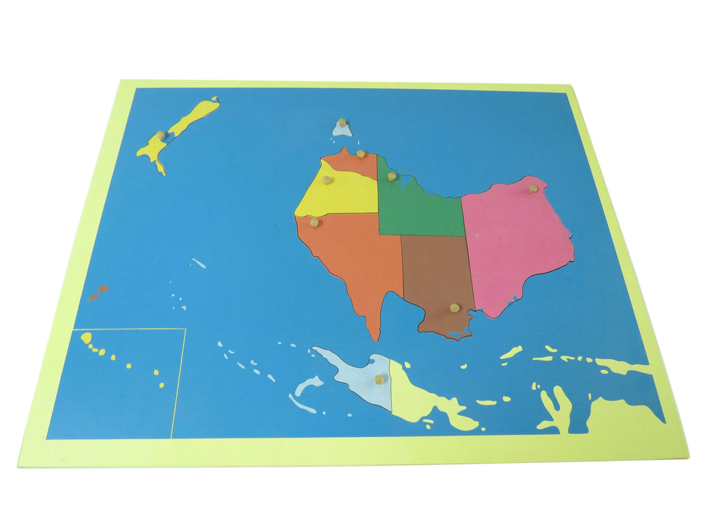 Puzzle map of Australia standard size 135762203