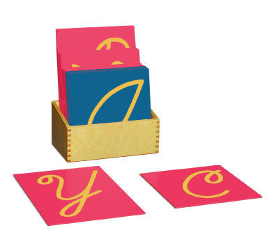 Sandpaper Capitals Cursive with box 135762399