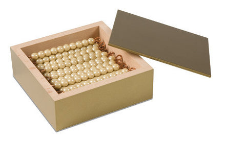 45 Golden Bars Of 10 In Box - Individual Beads Glass (pictured) 614035332