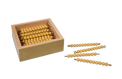 45 Golden Bars Of 10 In Box - Individual Beads Nylon 614035076