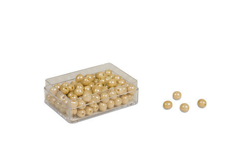 100 Golden Bead Units - Individual Beads Glass (with hole) (pictured) 614034692