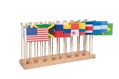 Flag Stand Of North And South America 613923972