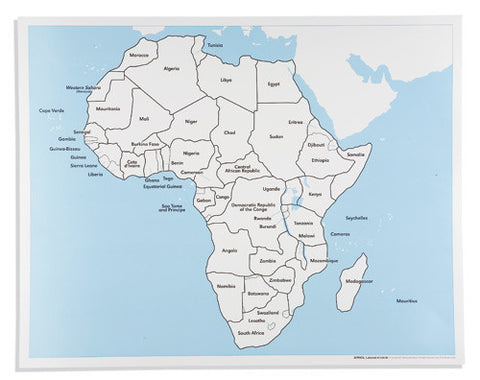 Africa Control Map: Labeled 613935364