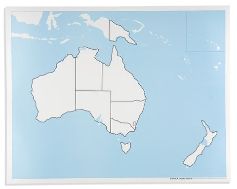 Australia Control Map: Unlabeled 613945348
