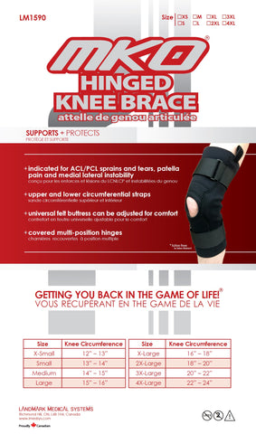 MKO HINGED KNEE BRACE