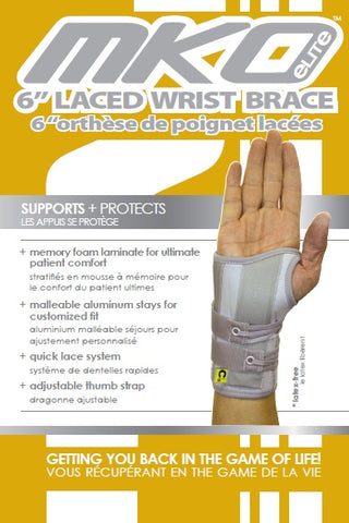 "MKO ELITE 6"" LACED WRIST BRACE"