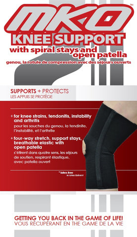 MKO KNEE SUPPORT SPIRAL STAYS OPEN PATELLA