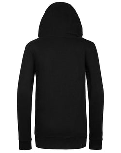 Womens Black Embroidered High Neck Hoodie