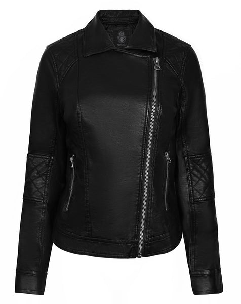 Womens Imitation Leather Jacket