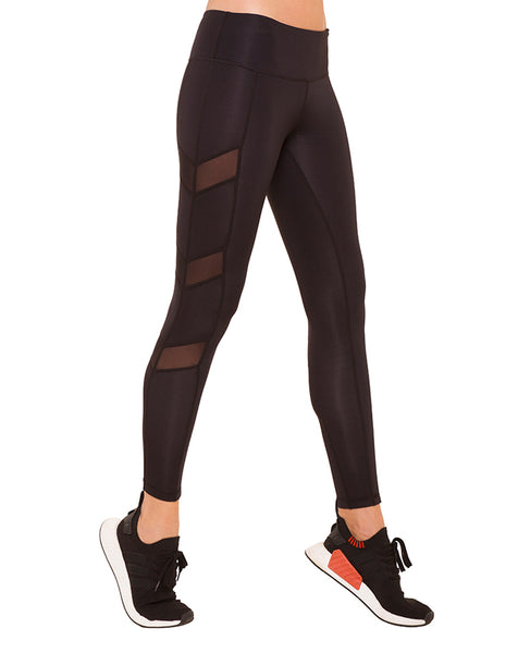 Chevron Mesh Leggings