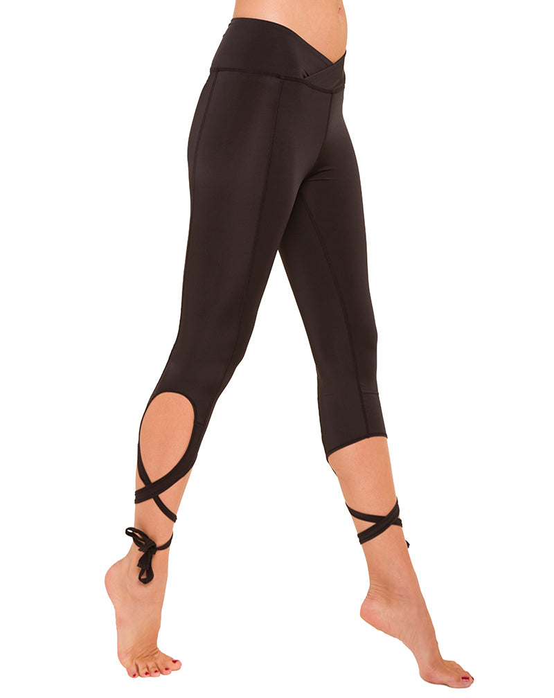 Black Ribbon Leggings
