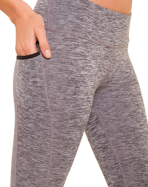 Static Grey Pocket Leggings - IAM VIBES