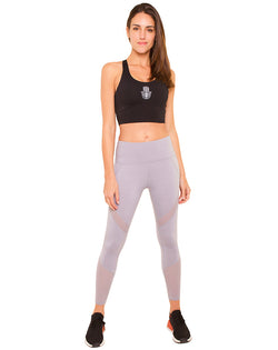 Weaving Mesh Grey Leggings - IAM VIBES