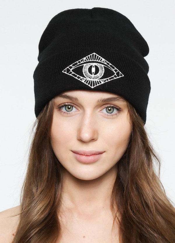 Black Third Eye Beanie - IAM VIBES