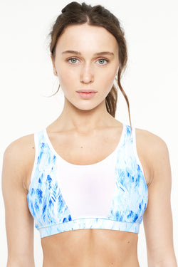 Blue Dove Mesh Sports Bra - IAM VIBES
