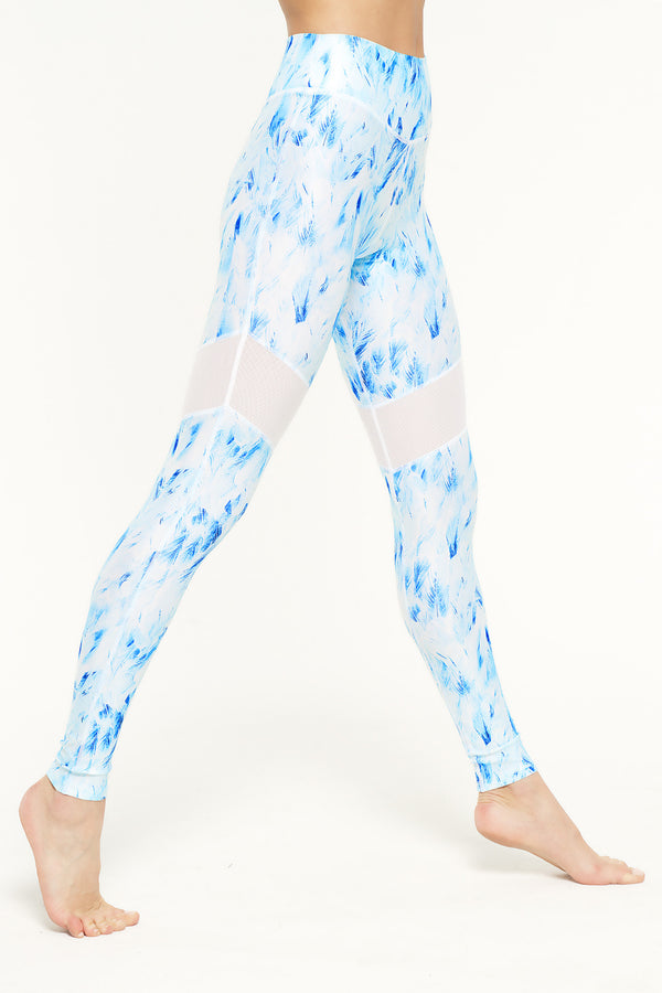 Blue Dove Mesh Leggings - IAM VIBES
