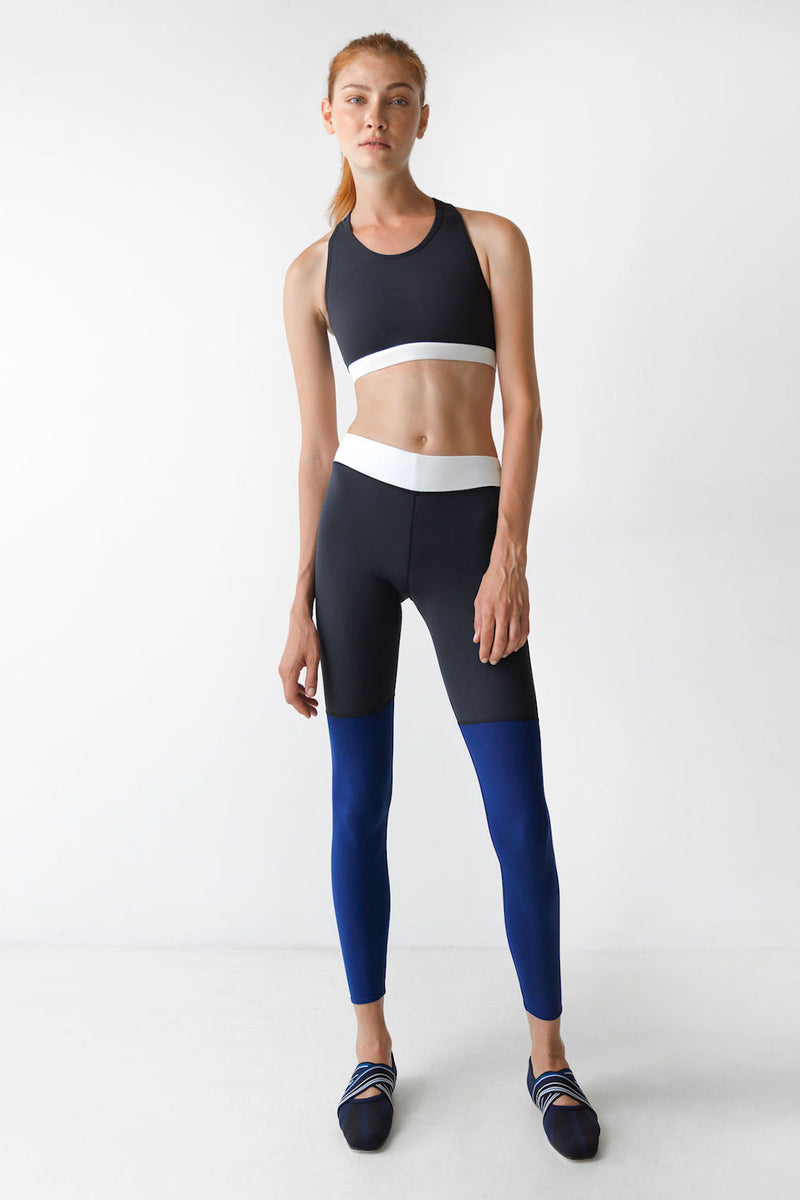 Blue Sliced Beam Leggings - IAM VIBES