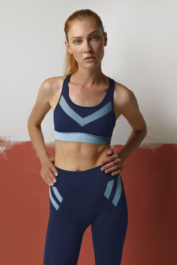 Blue Pilot Bra Top