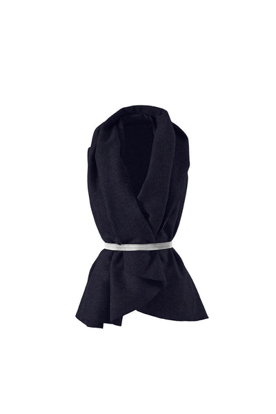 Pilou Navy Blue Lambswool