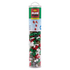 Plus-Plus Open Play Tube 240pc - Holiday Mix with Gold & Silver