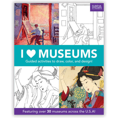 Mudpuppy Activity Book - I Heart Museums