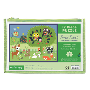 Mudpuppy Pouch Puzzle Forest Friends