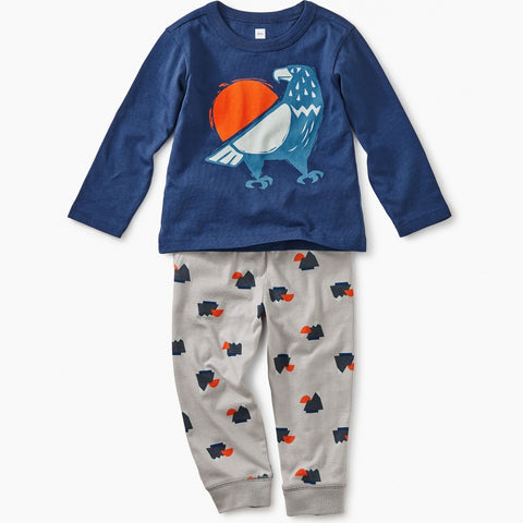 Tea Collection Eagle Baby Outfit