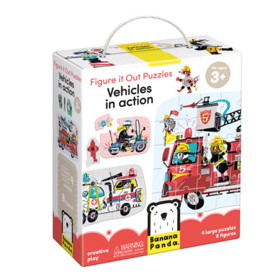 Banana Panda Figure it Out Puzzle - Vehicles in Action