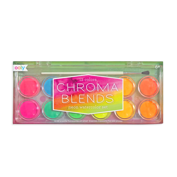 Ooly Chroma Blends Watercolor Paints Neon