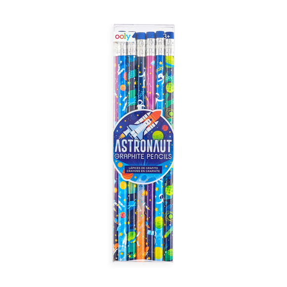 Ooly Astronaut Graphite Pencils - Set of 12