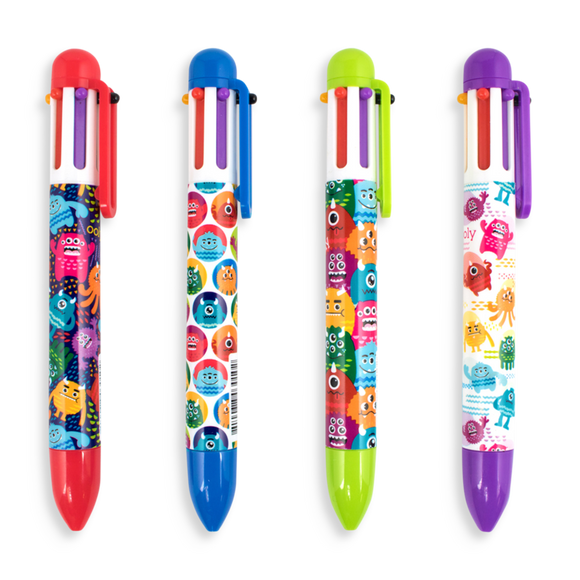 Ooly 6-Click Multi Color Pen Monster