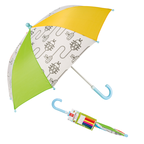 Beetle & Bee Garden - Color & Cover Umbrella