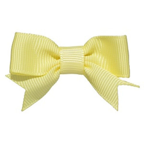 No Slippy Hair Clippy Emily Grosgrain Baby Bow Citron