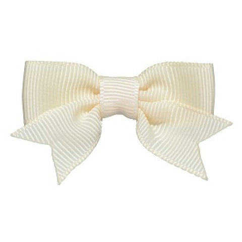 No Slippy Hair Clippy Emily Grosgrain Baby Bow Cream