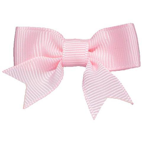No Slippy Hair Clippy Emily Grosgrain Baby Bow Pink