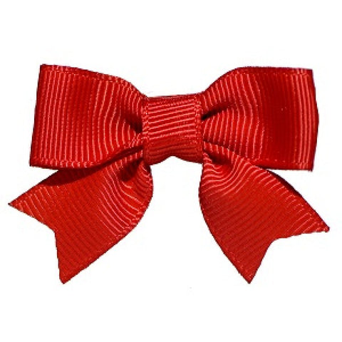 No Slippy Hair Clippy Emily Grosgrain Baby Bow Red
