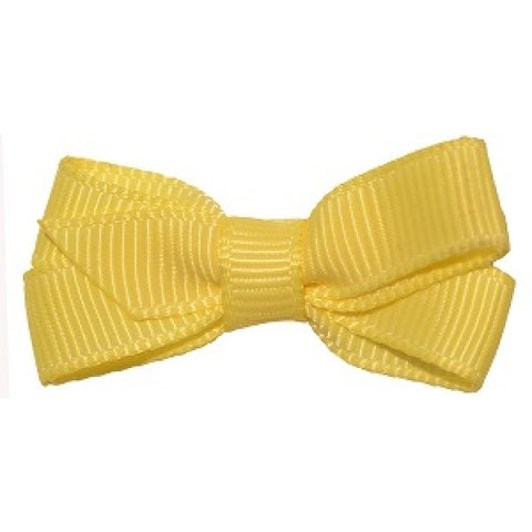 No Slippy Hair Clippy Haley Mini Grosgrain Bow Citron