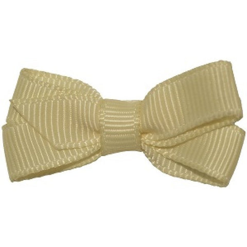 No Slippy Hair Clippy Haley Mini Grosgrain Bow Cream