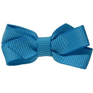 No Slippy Hair Clippy Haley Mini Grosgrain Bow French Blue