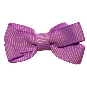 No Slippy Hair Clippy Haley Mini Grosgrain Bow Grape