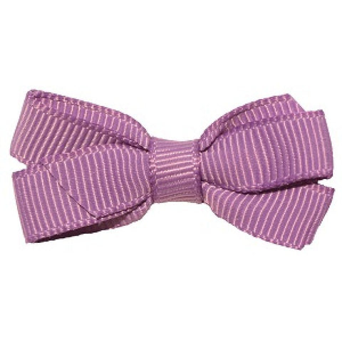 No Slippy Hair Clippy Haley Mini Grosgrain Bow Lavender