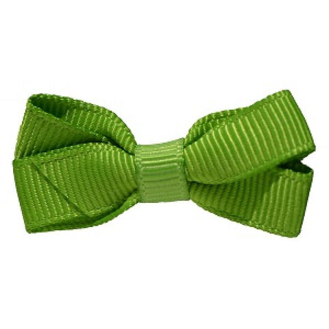 No Slippy Hair Clippy Haley Mini Grosgrain Bow Lime